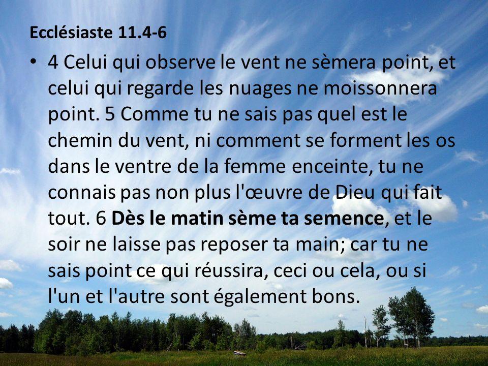 Ecclésiaste 11.4-6