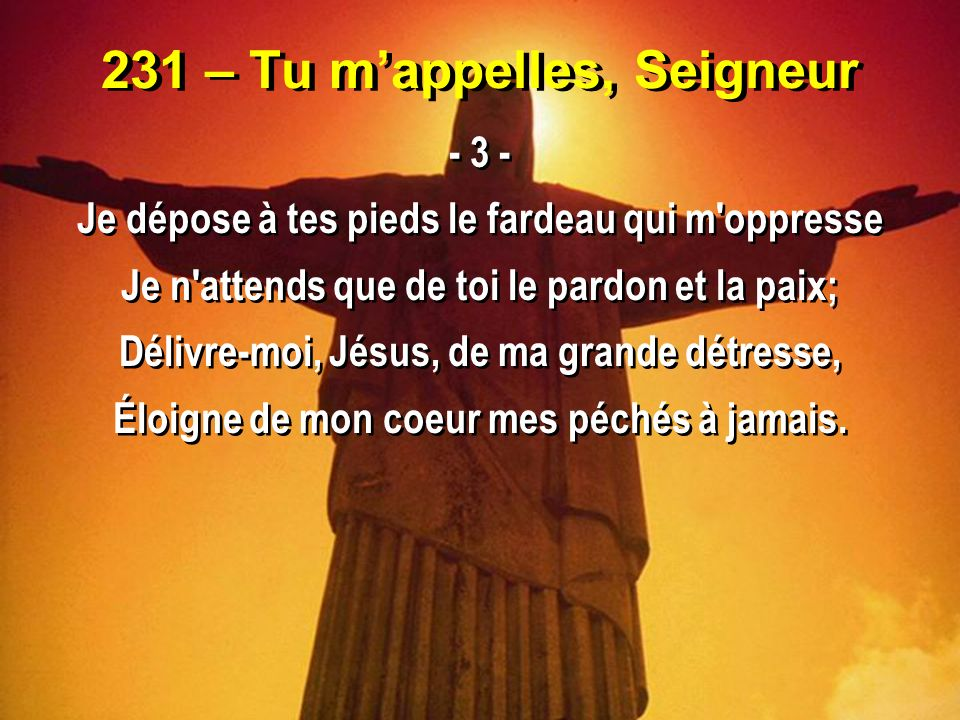 231 – Tu m'appelles, Seigneur