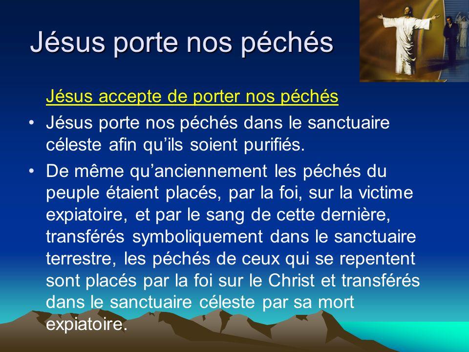 Jésus porte nos péchés Jésus accepte de porter nos péchés