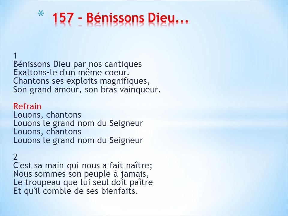 157 - Bénissons Dieu...
