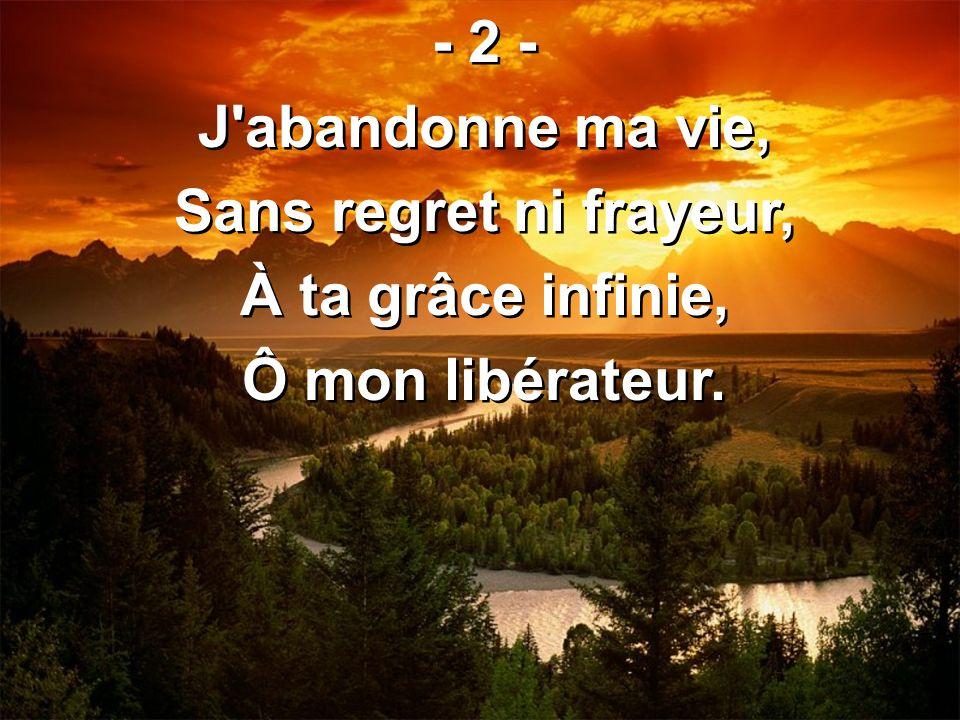- 2 - J abandonne ma vie, Sans regret ni frayeur, À ta grâce infinie, Ô mon libérateur.