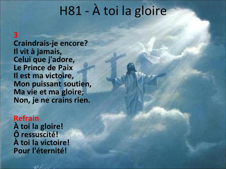 H81 - À toi la gloire