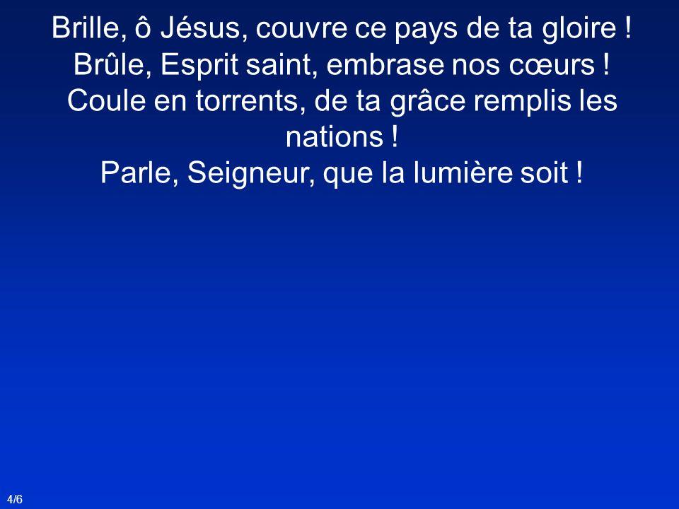 Brille, ô Jésus, couvre ce pays de ta gloire !