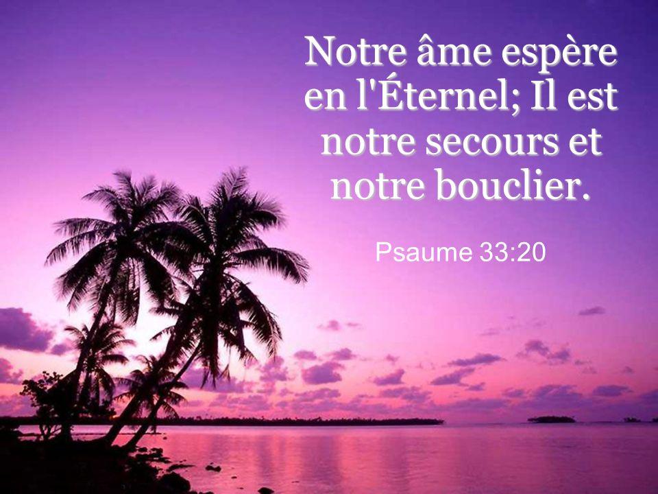 Notre âme espère en l Éternel; Il est notre secours et notre bouclier.
