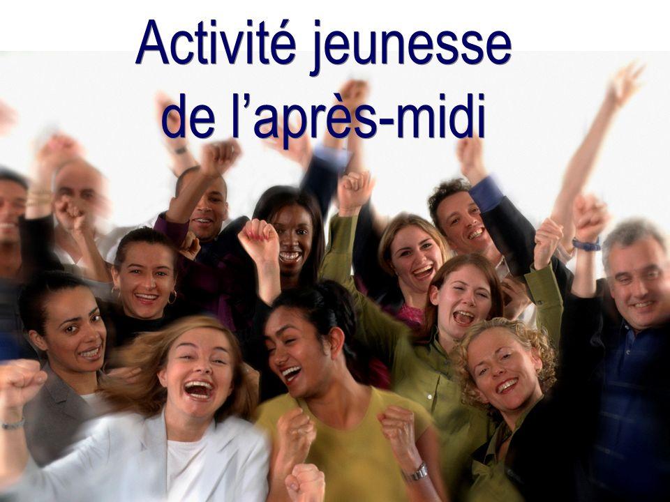 Activité jeunesse de l'après-midi