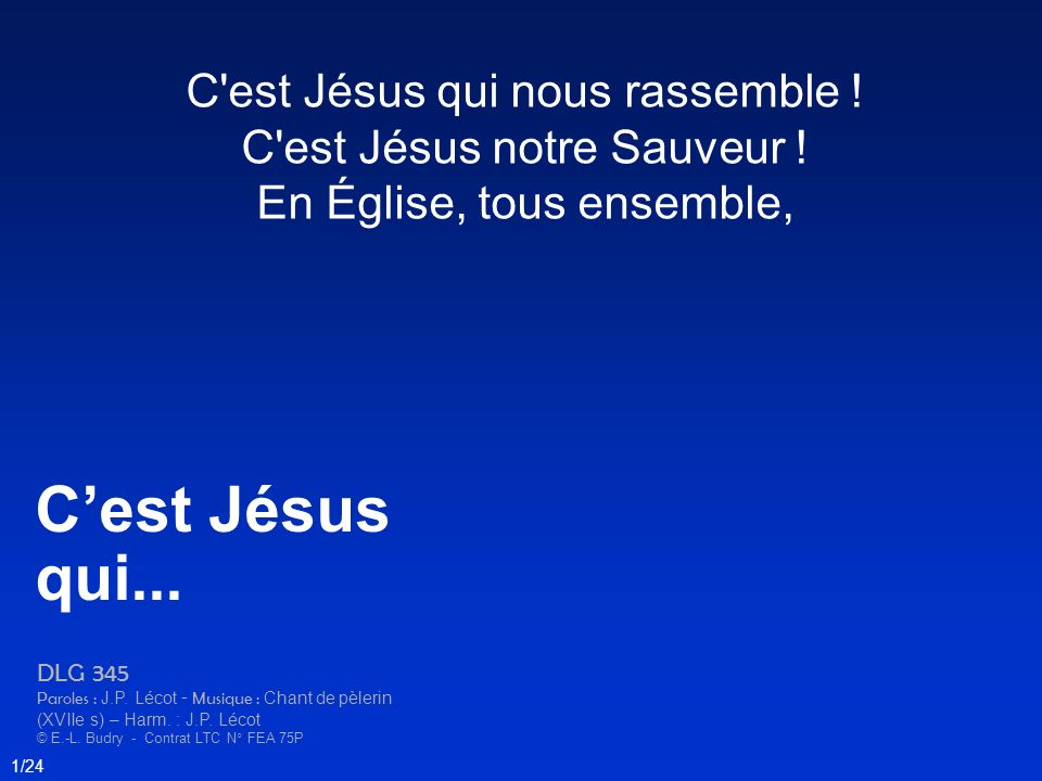 C'est Jésus qui... C est Jésus qui nous rassemble !