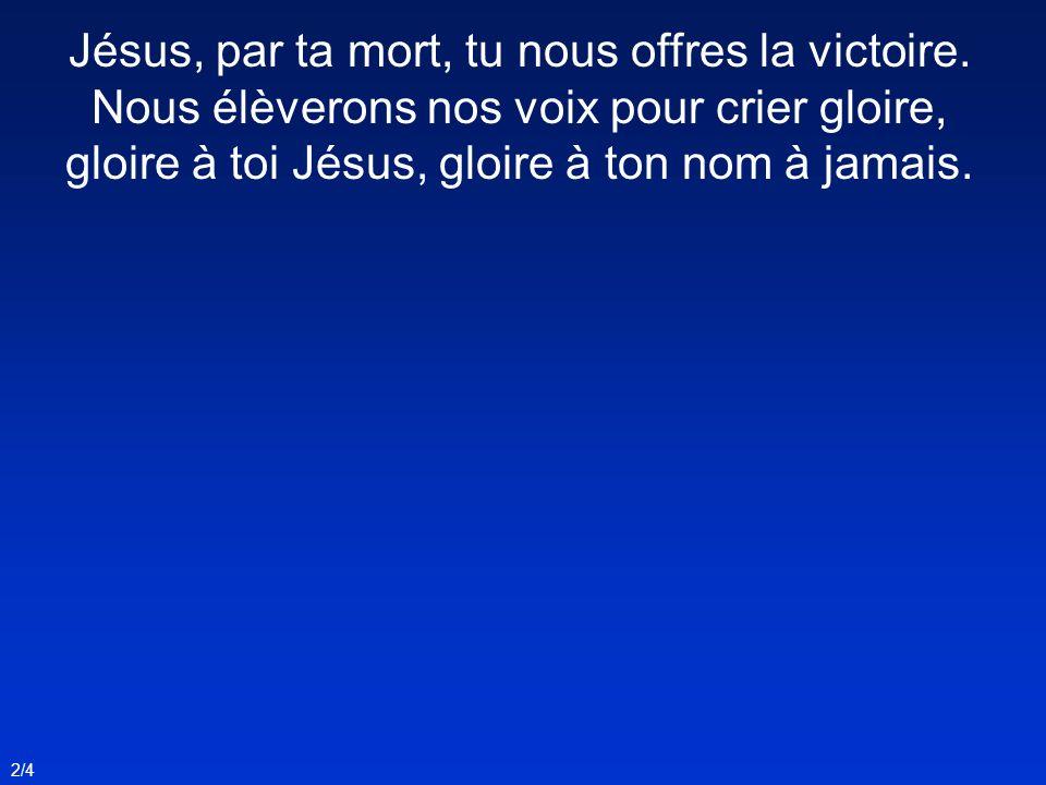 Jésus, par ta mort, tu nous offres la victoire.