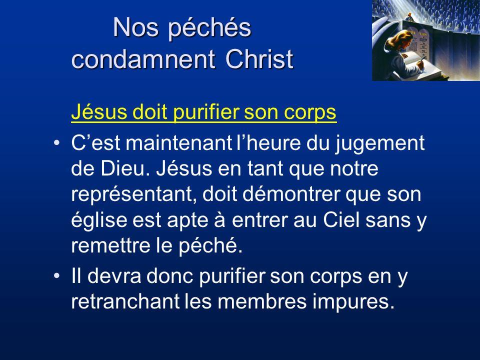 Nos péchés condamnent Christ