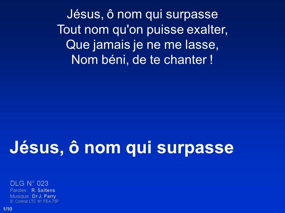 Jésus, ô nom qui surpasse