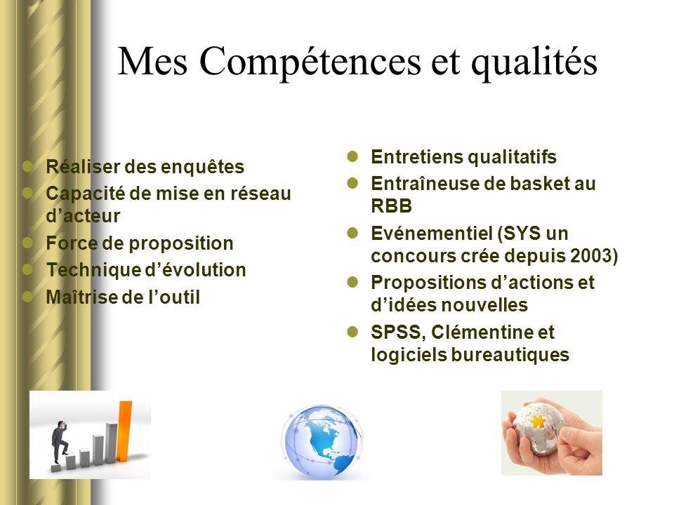 Mes Compétences et qualités