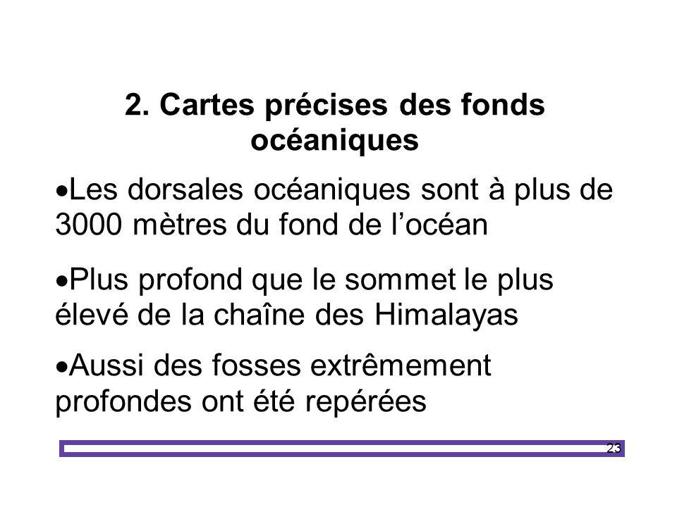 2. Cartes précises des fonds océaniques