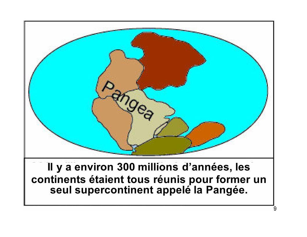 seul supercontinent appelé la Pangée.