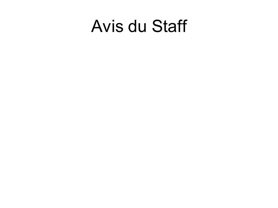 Avis du Staff