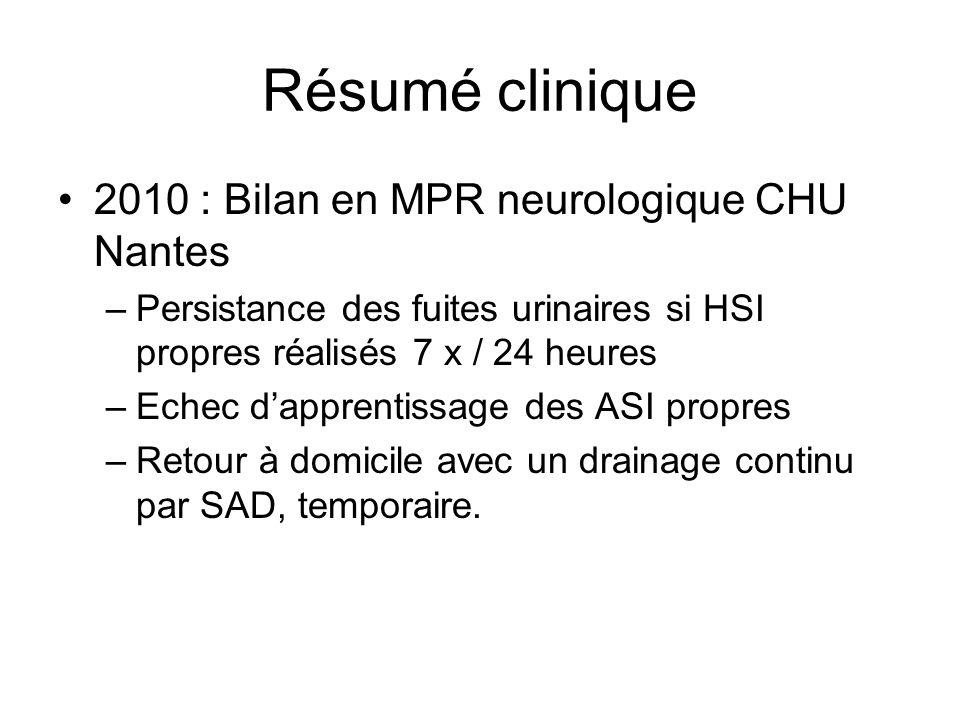 Résumé clinique 2010 : Bilan en MPR neurologique CHU Nantes