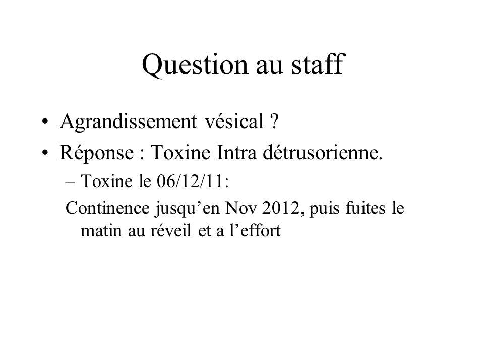 Question au staff Agrandissement vésical