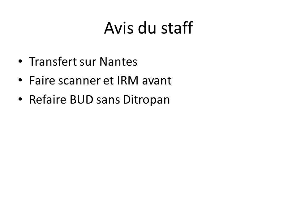 Avis du staff Transfert sur Nantes Faire scanner et IRM avant