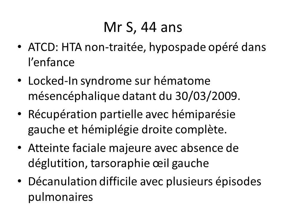 Mr S, 44 ans ATCD: HTA non-traitée, hypospade opéré dans l'enfance