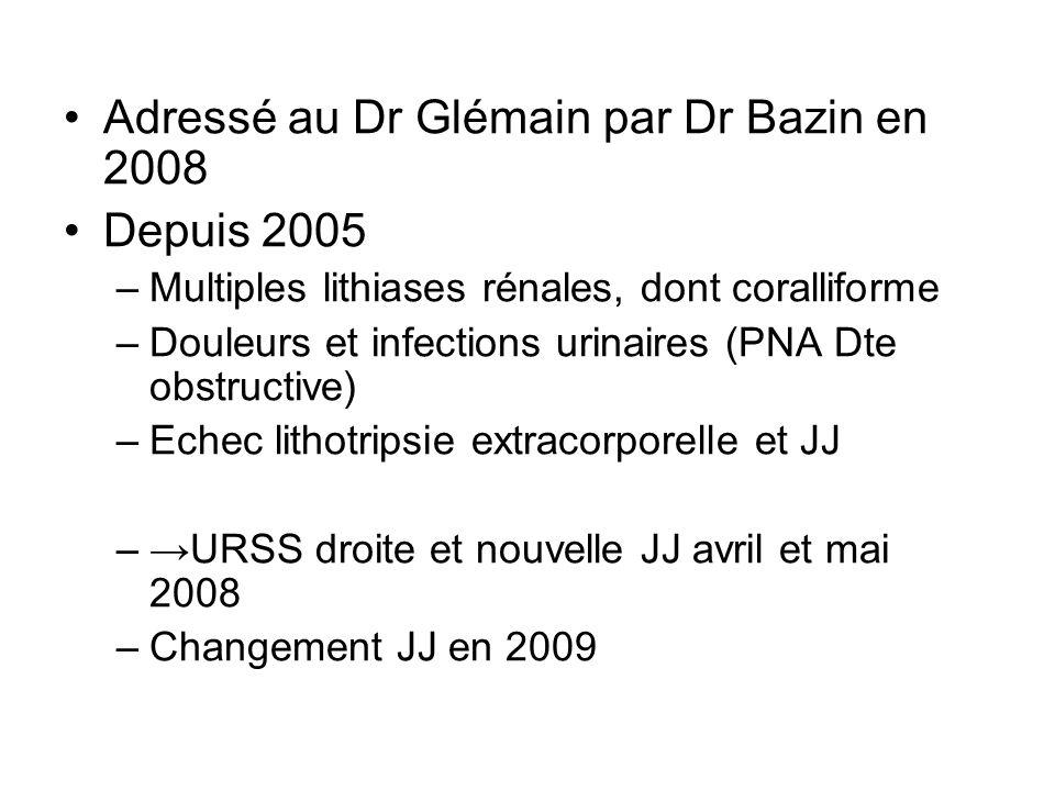 Adressé au Dr Glémain par Dr Bazin en 2008 Depuis 2005