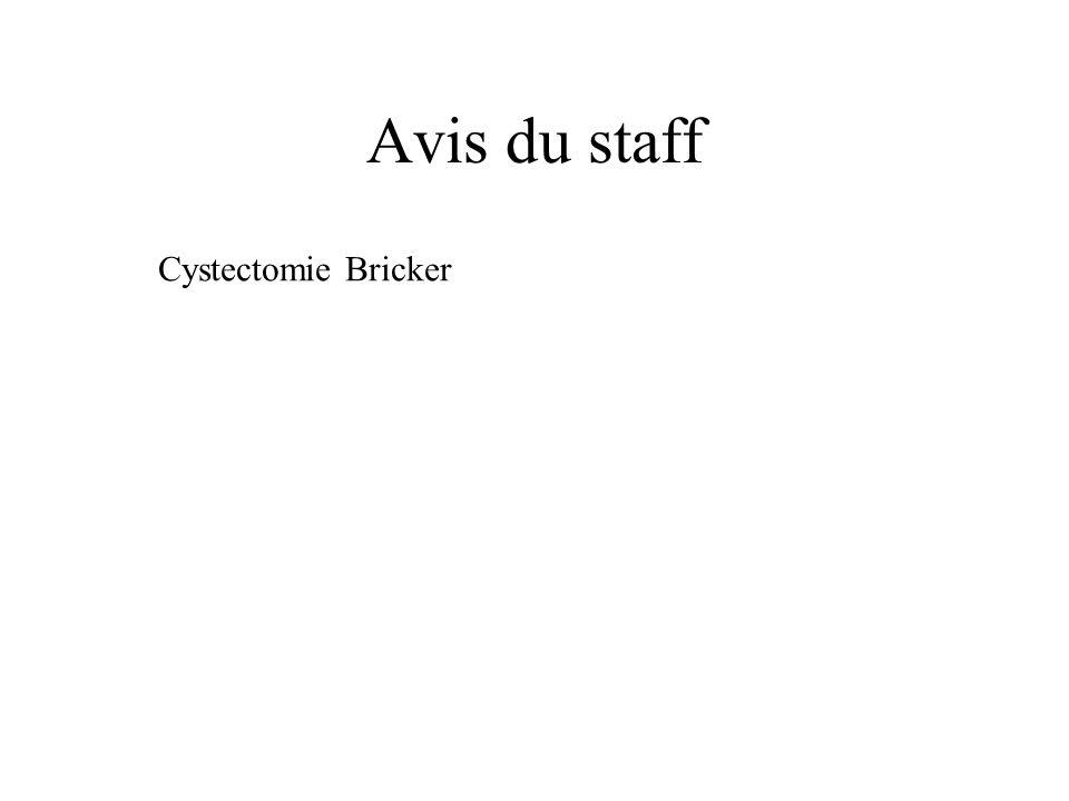 Avis du staff Cystectomie Bricker