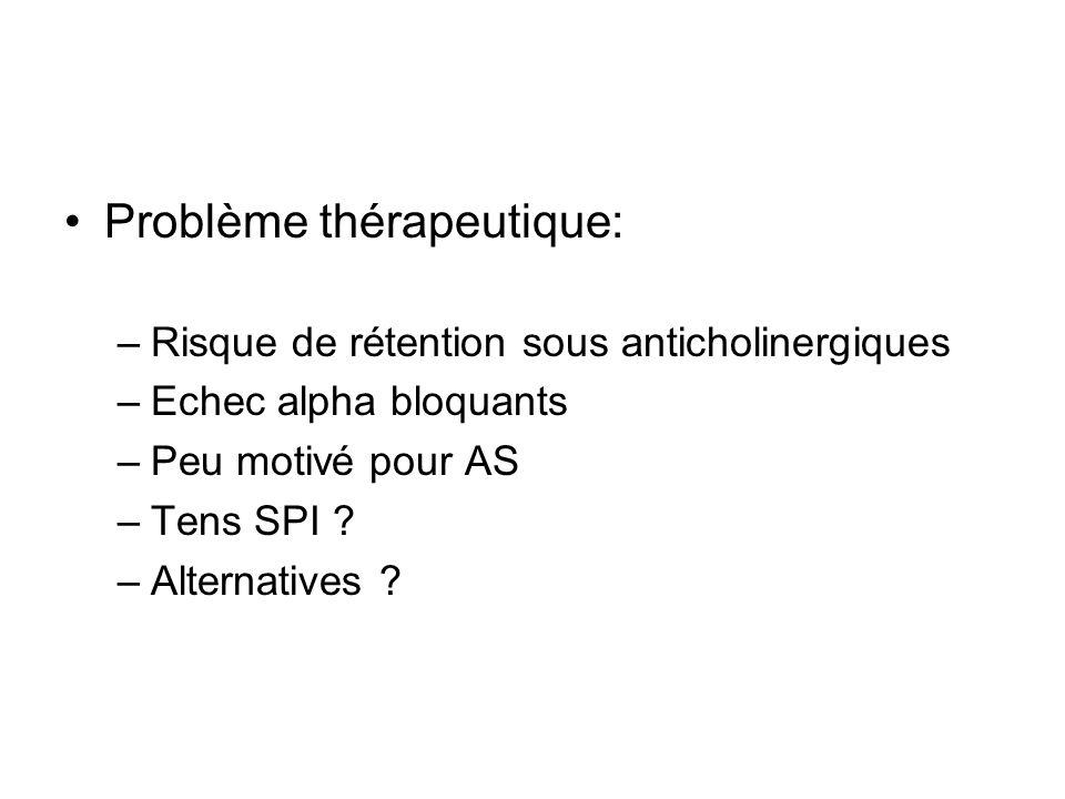 Problème thérapeutique: