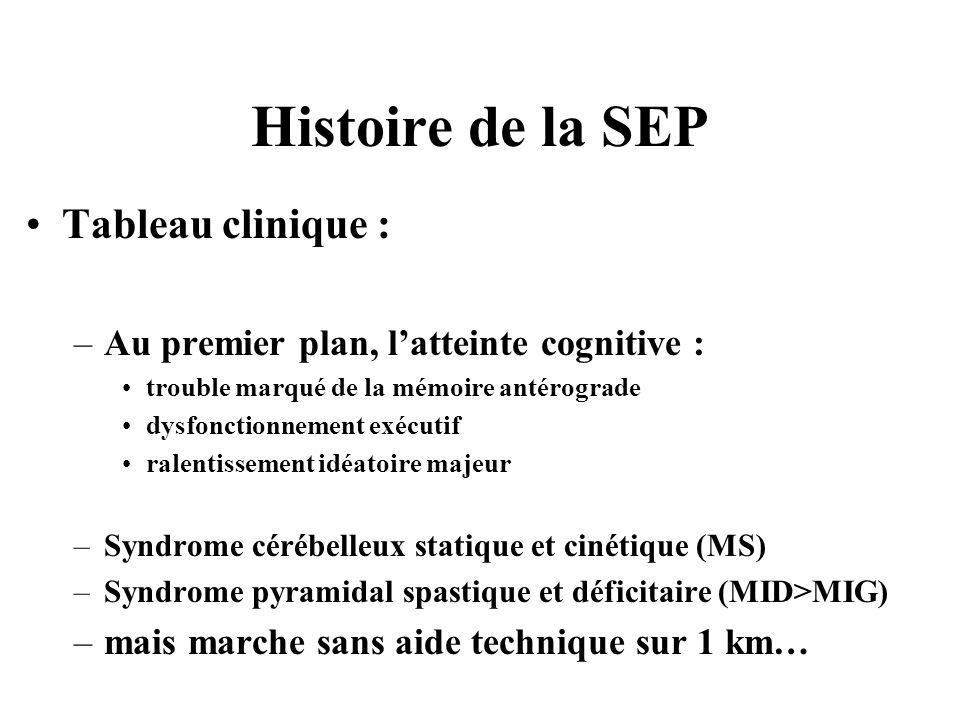 Histoire de la SEP Tableau clinique :