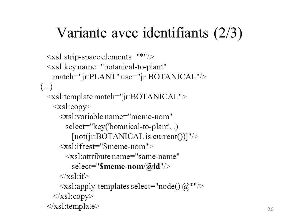 Variante avec identifiants (2/3)