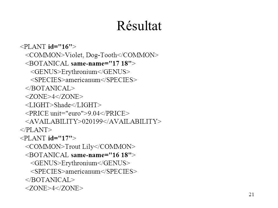 Résultat <PLANT id= 16 >