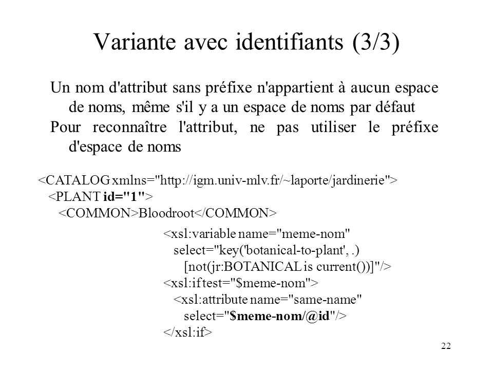 Variante avec identifiants (3/3)