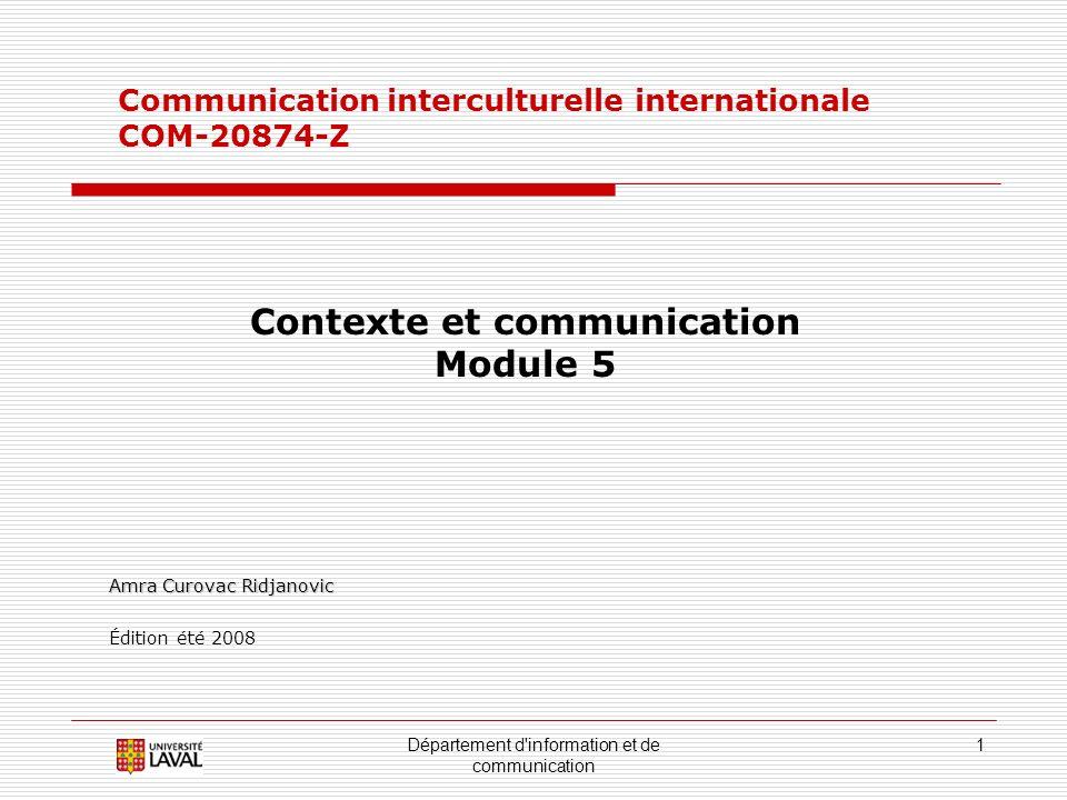 Contexte et communication
