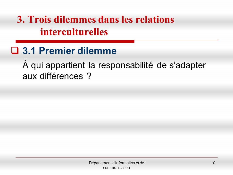 3. Trois dilemmes dans les relations interculturelles