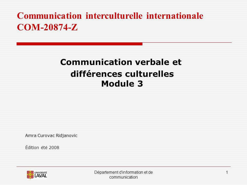 Communication verbale et différences culturelles