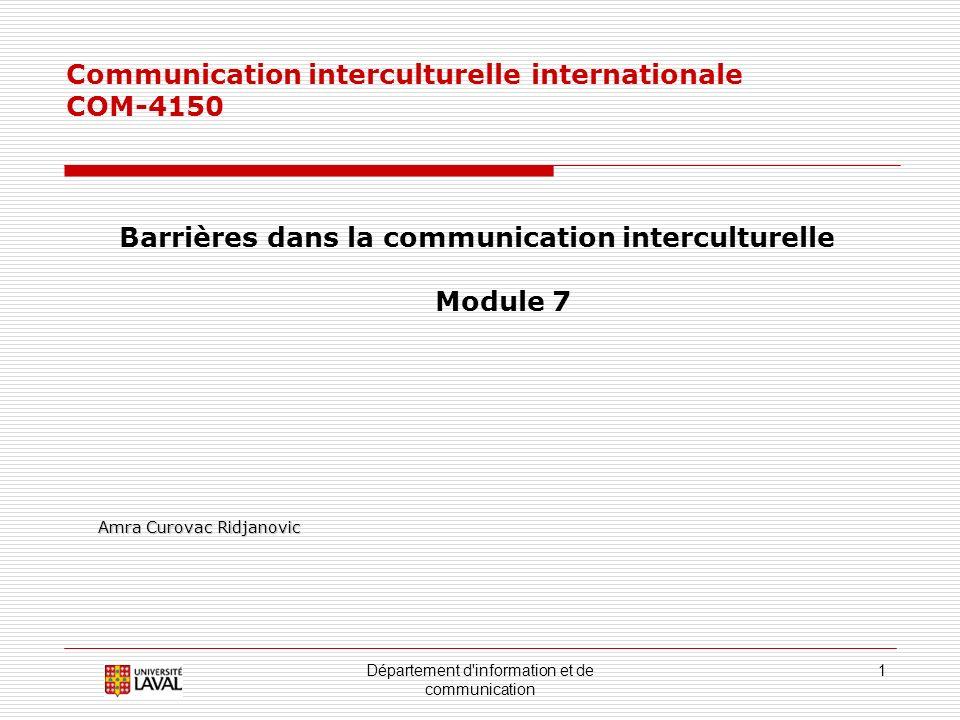 Barrières dans la communication interculturelle