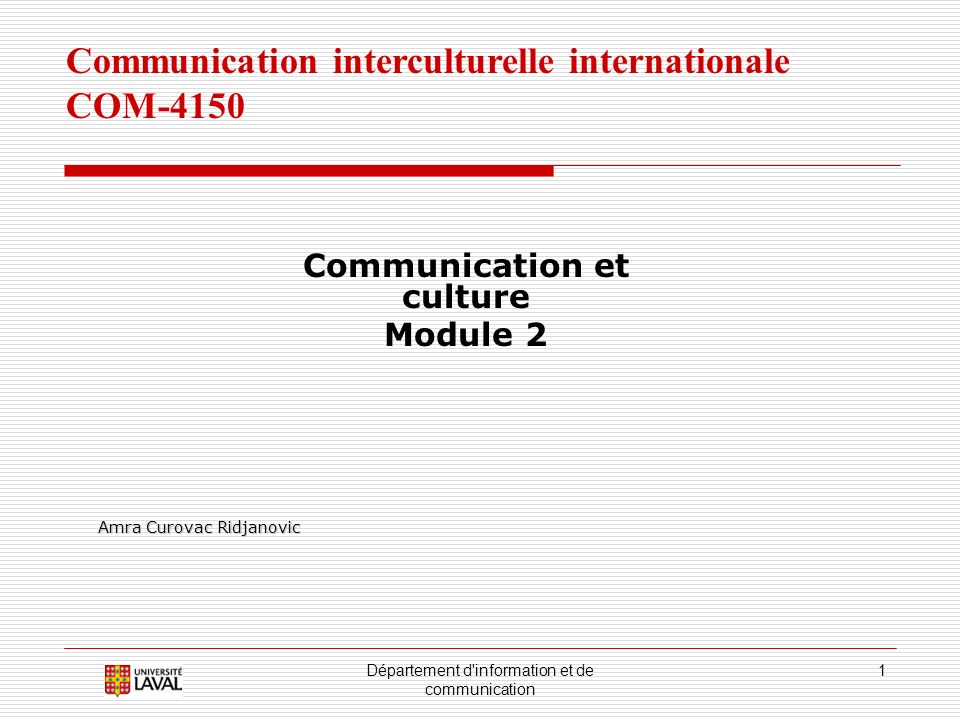 Communication et culture