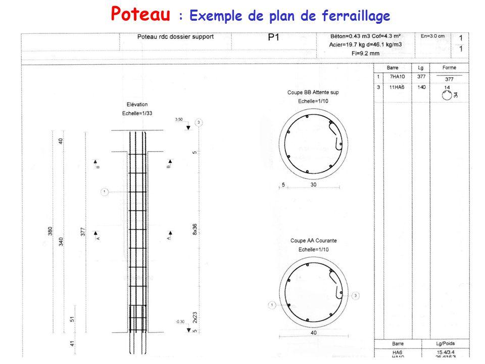 Principe du b ton arm etudions le principe de fonctionnement de quelques l ments de b ton arm - Exemple de plan de coupe ...