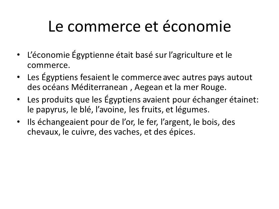 Le commerce et économie