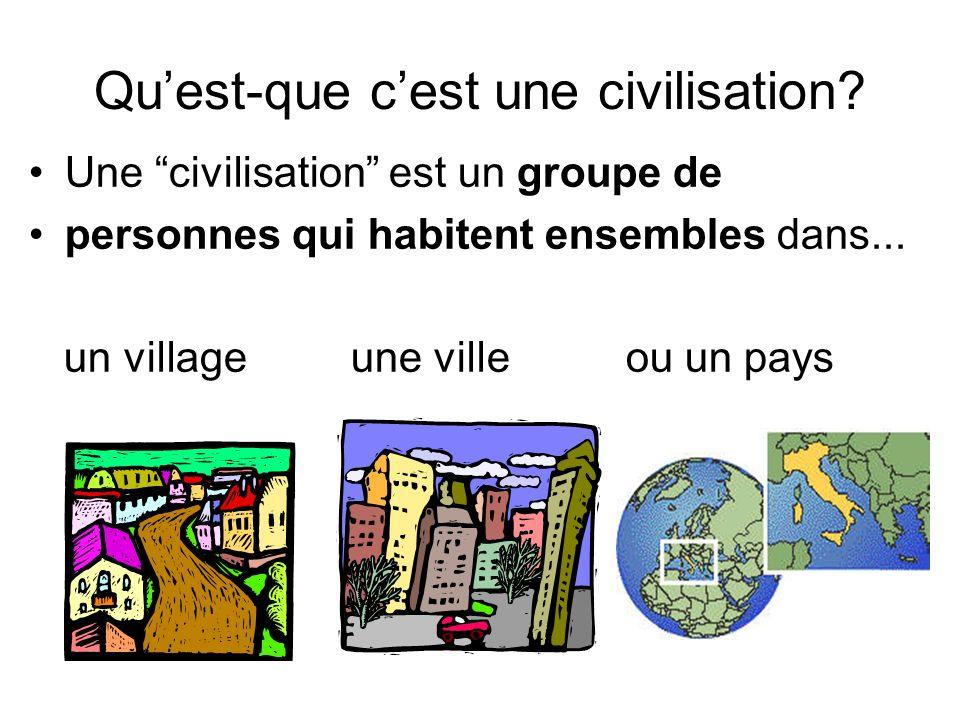 Qu'est-que c'est une civilisation
