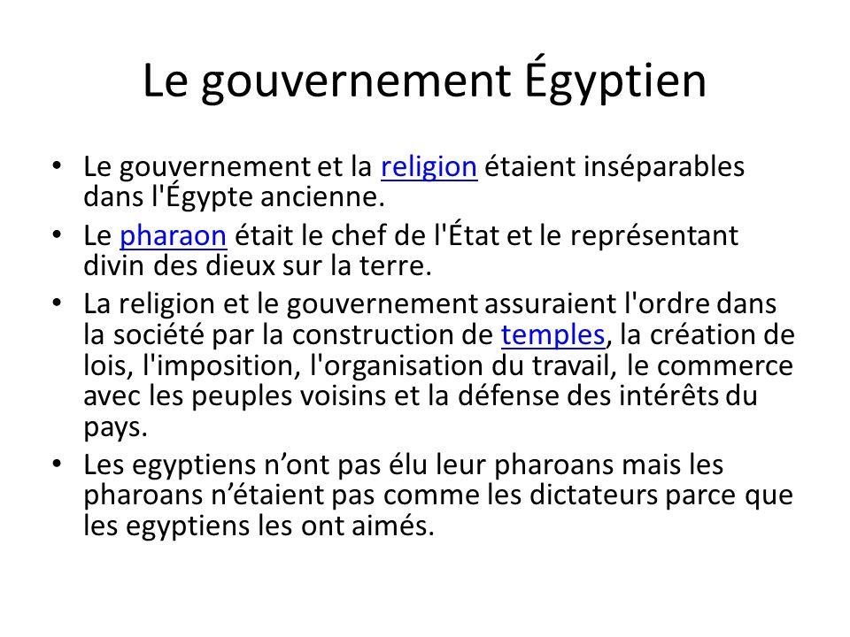 Le gouvernement Égyptien