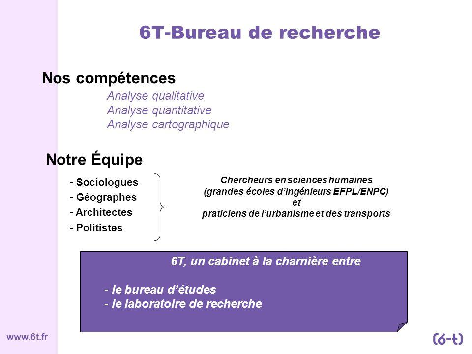 6T-Bureau de recherche Nos compétences Notre Équipe