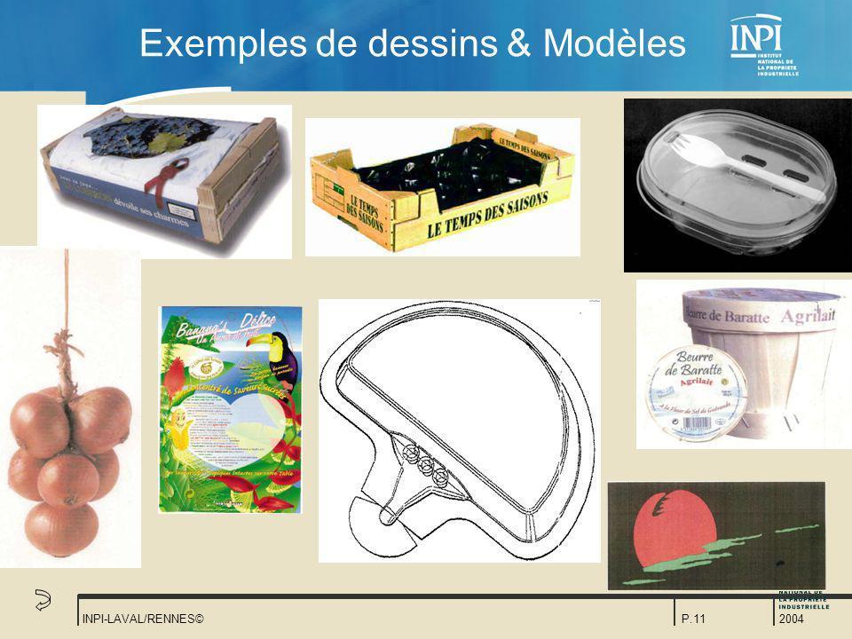 Exemples de dessins & Modèles