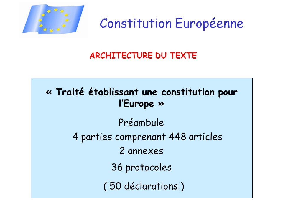 « Traité établissant une constitution pour l'Europe »