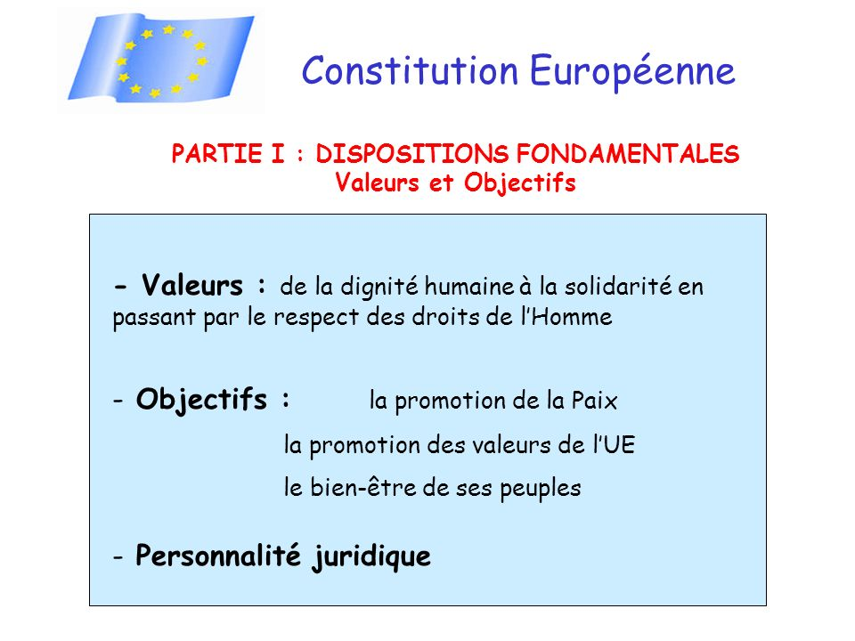 PARTIE I : DISPOSITIONS FONDAMENTALES