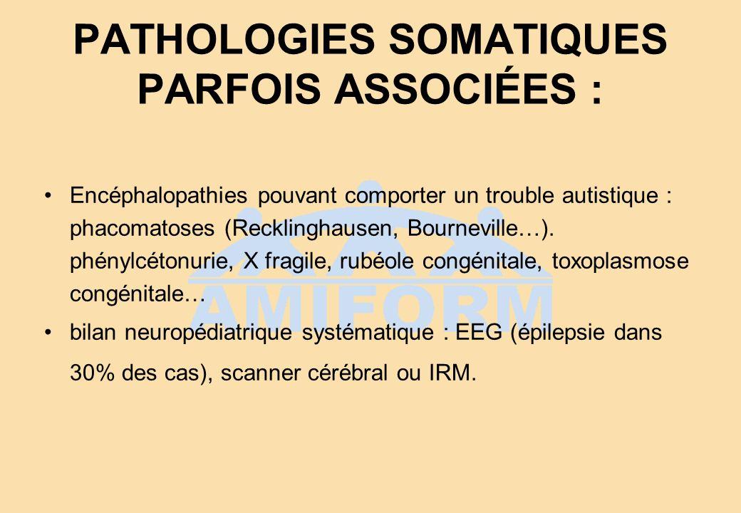 PATHOLOGIES SOMATIQUES PARFOIS ASSOCIÉES :