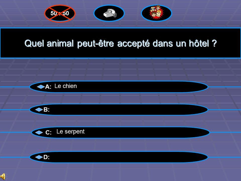 Quel animal peut-être accepté dans un hôtel