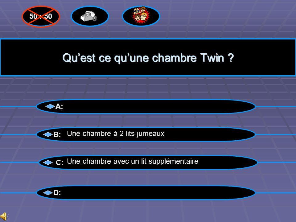 Qu'est ce qu'une chambre Twin