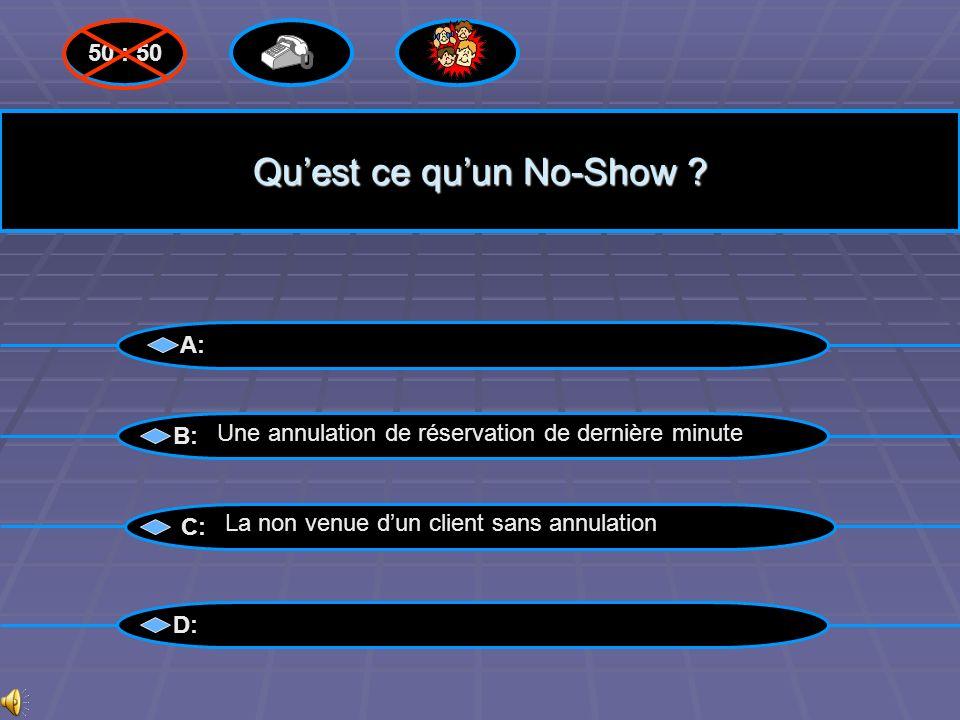 Qu'est ce qu'un No-Show