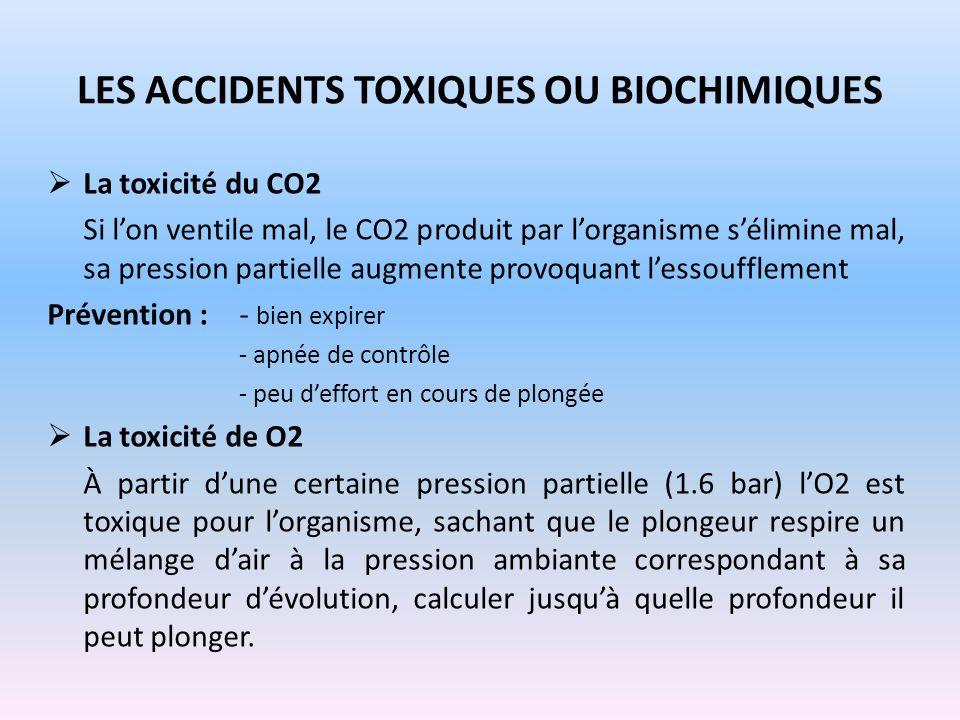 Les accidents toxiques ou biochimiques