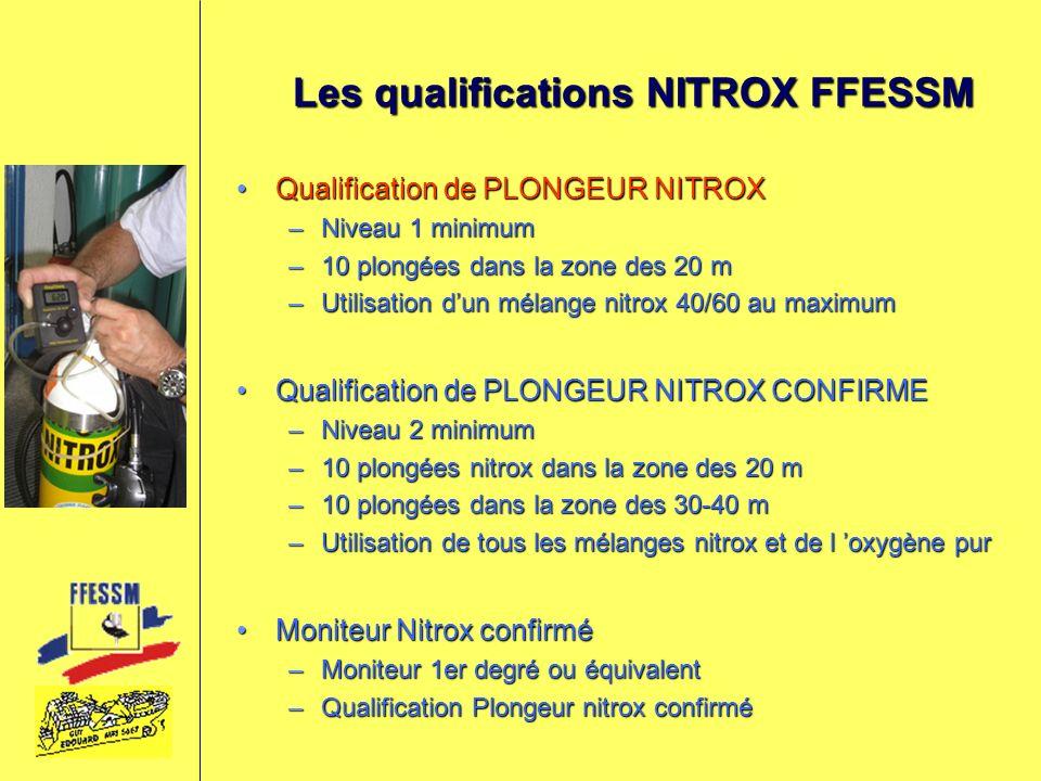 Les qualifications NITROX FFESSM