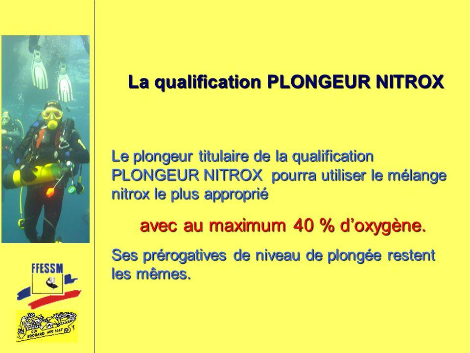 La qualification PLONGEUR NITROX
