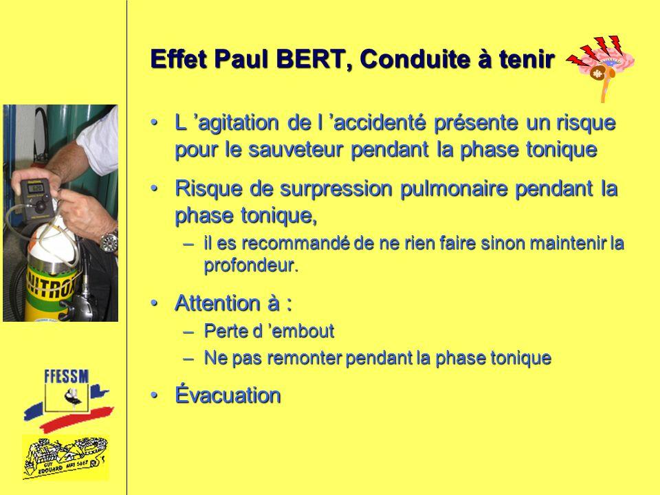 Effet Paul BERT, Conduite à tenir