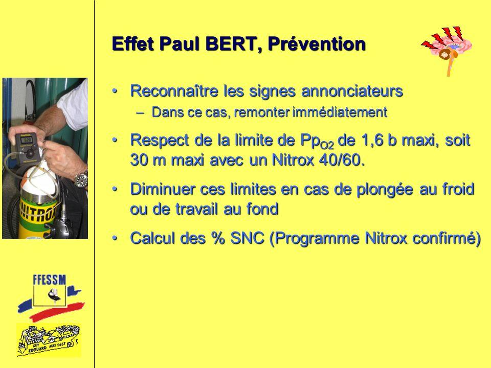 Effet Paul BERT, Prévention